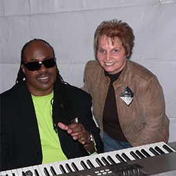 Testimonial photo of Stevie Wonder, Retinopathy of Prematurity and Judy Robinet, Car Accident