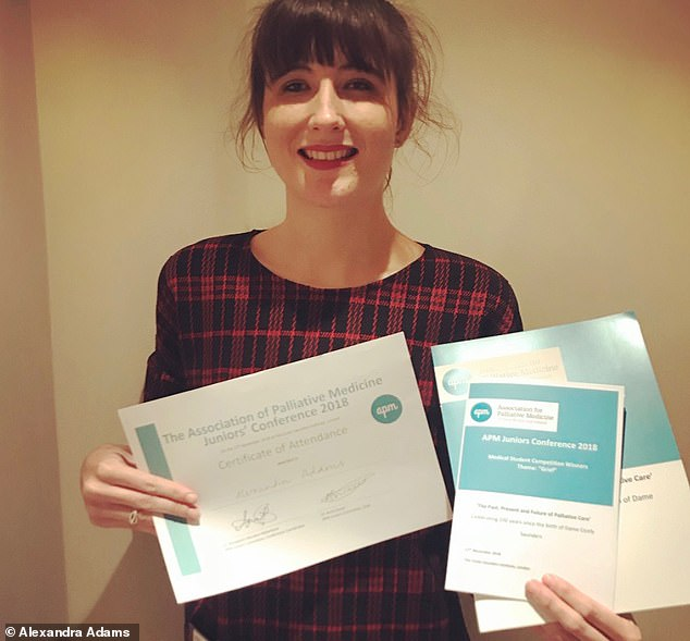 Alexandra is now in her fourth year of study on her way to becoming a fully qualified doctor