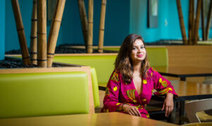 Dona Sarkar photographed on the Microsoft Campus in Redmond,