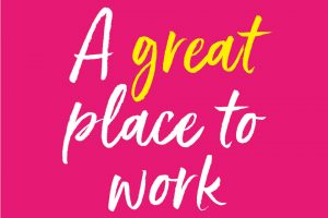 """Picture that says """"a great place to work""""."""