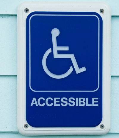 Picture of an accessible sign.