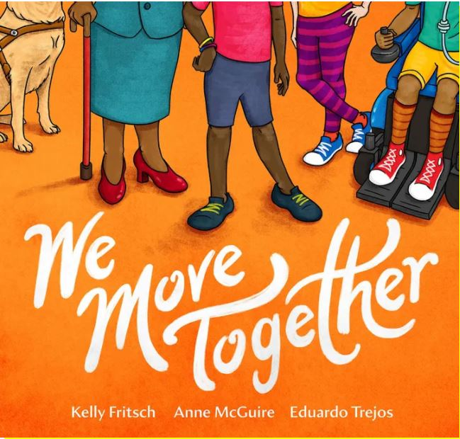 """Picture of the front side of the book called """"We move together""""."""