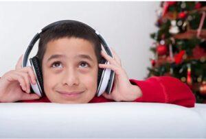 Boy Smiling Wearing Headphones