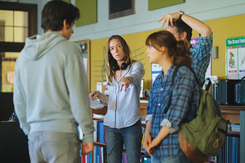 Picture of Sian Heder directing Emilia Jones in CODA.