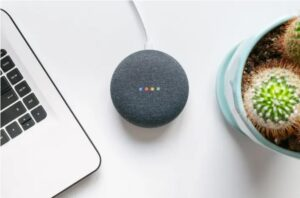 Picture of a google home.
