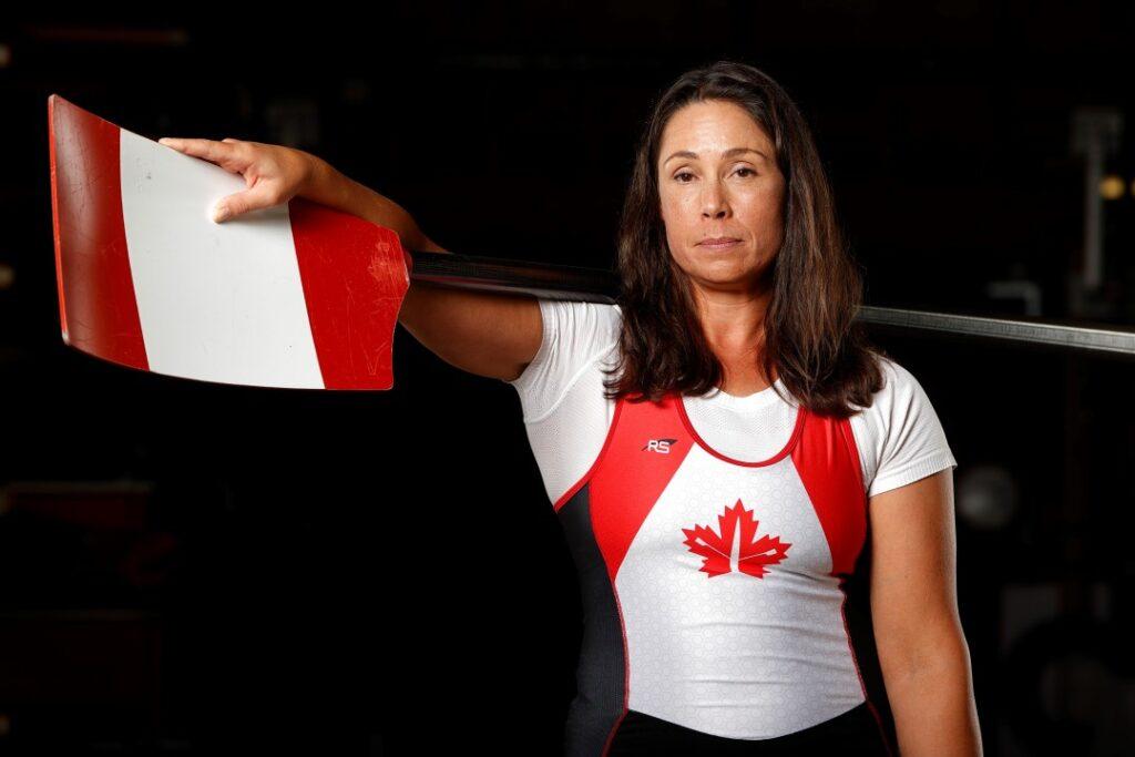 Victoria Nolan in Canadian athletic uniform.