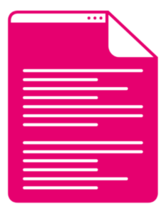 Picture of a pink webpage desktop icon.